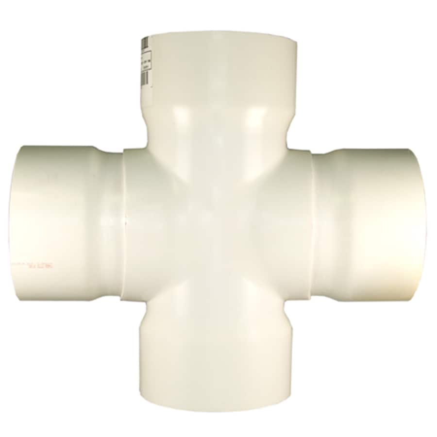 Charlotte Pipe 10-in x 4-in dia PVC Cross Tee Fitting