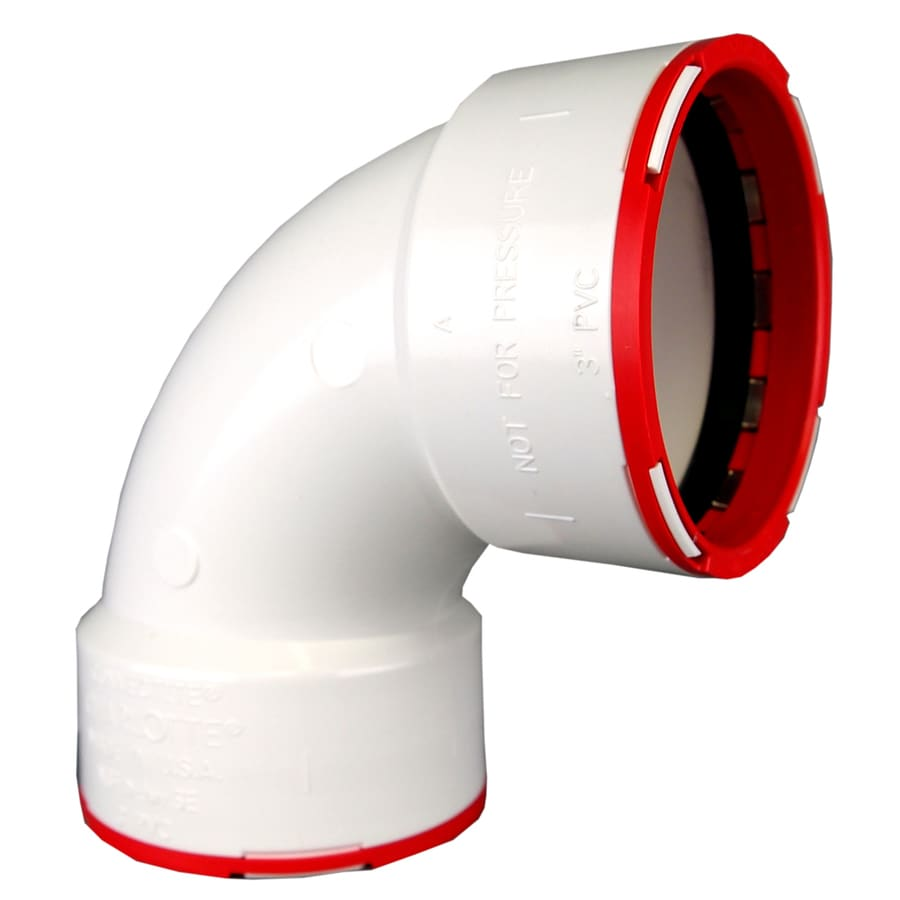 ConnecTite by Charlotte Pipe 2 dia 90-Degree PVC Elbow Fitting