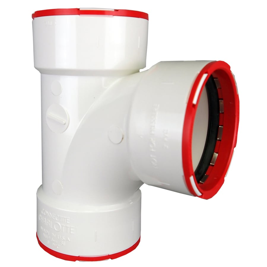 ConnecTite by Charlotte Pipe 3-in dia PVC Sanitary Tee Fitting