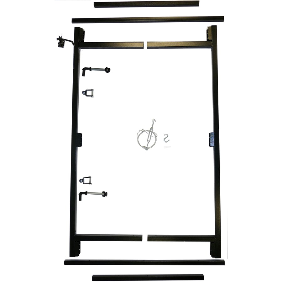 Shop Adjust-A-Gate Contractor 1.5-in Black Gate Kit at Lowes.com