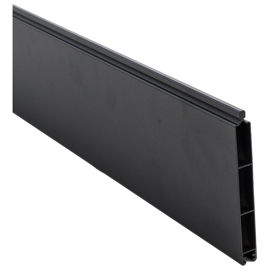 Infinity Black Aluminum Privacy Composite Fence Panel (Common: 0.41-ft x 6-ft; Actual: 0.41-ft x 5.916-ft)