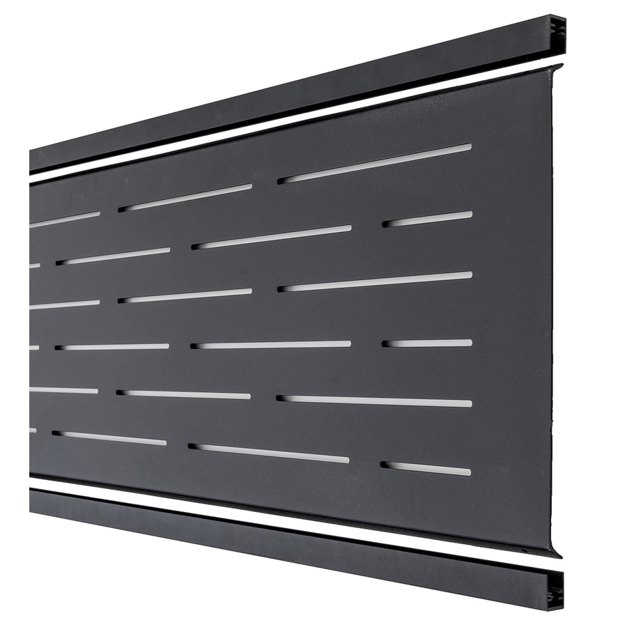 Infinity (Actual: 1.16-ft x 5.93-ft) Black Aluminum Composite Fence Panel