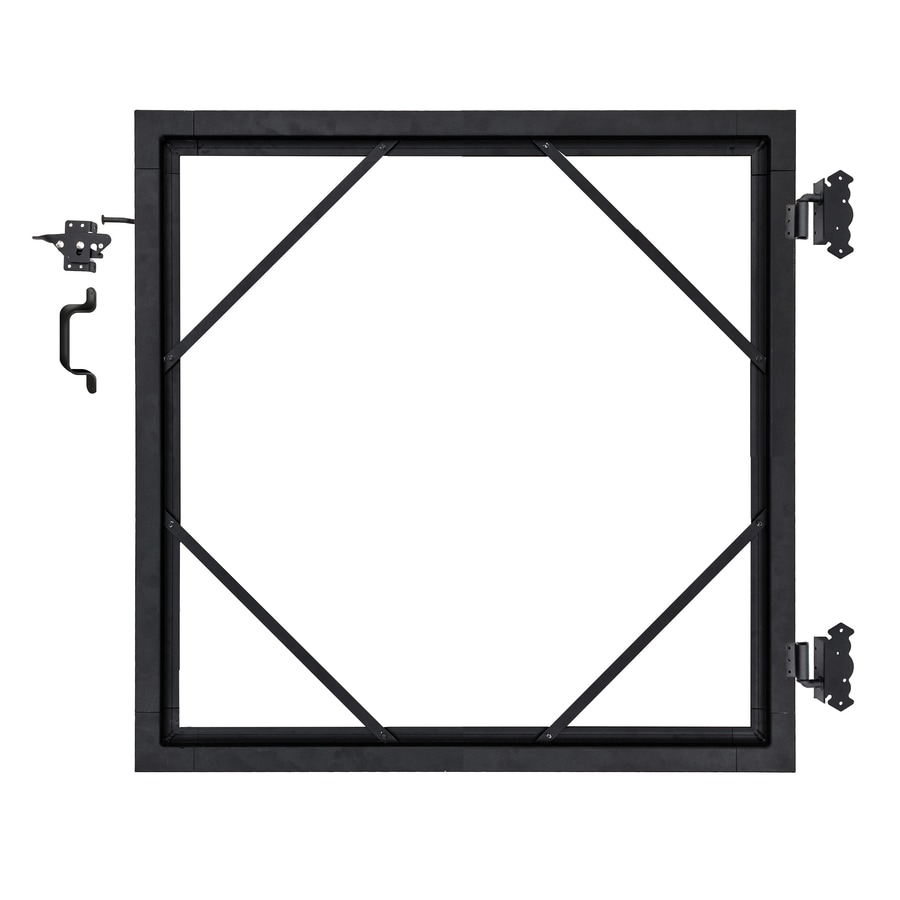 Infinity Black Aluminum Privacy Composite Fence Gate Kit (Actual: 6-ft x 6-ft)