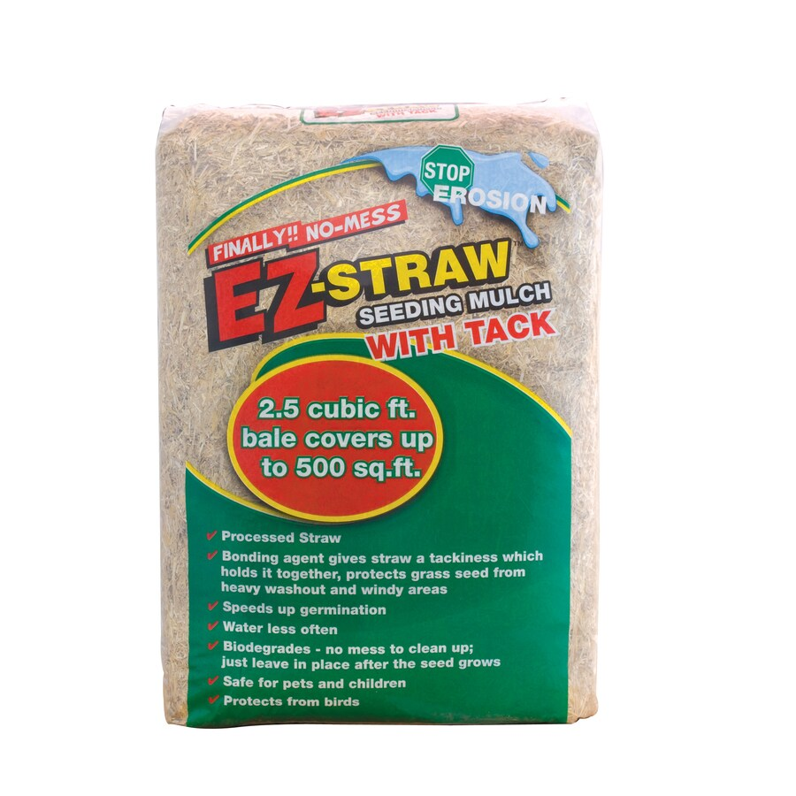 EZ Straw 2.5-cu ft Brown Bagged Mulch