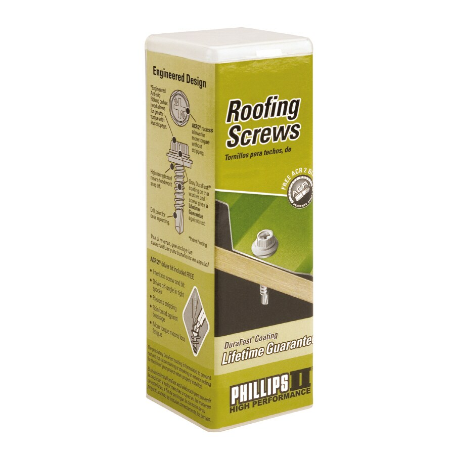PHILLIPS 80-Count 12-in x 1-in Roofing Drill Screws
