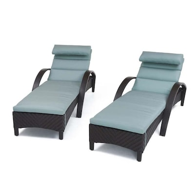 Astonishing Rst Brands Barcelo Set Of 2 Wicker Metal Stationary Chaise Cjindustries Chair Design For Home Cjindustriesco