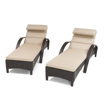 Super Rst Brands Barcelo Set Of 2 Wicker Metal Stationary Chaise Pabps2019 Chair Design Images Pabps2019Com