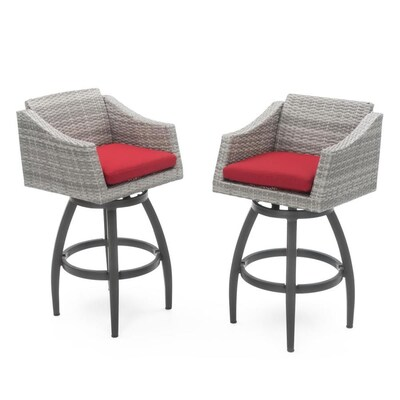 Super Rst Brands Cannes Set Of 2 Wicker Metal Swivel Bar Stool Unemploymentrelief Wooden Chair Designs For Living Room Unemploymentrelieforg