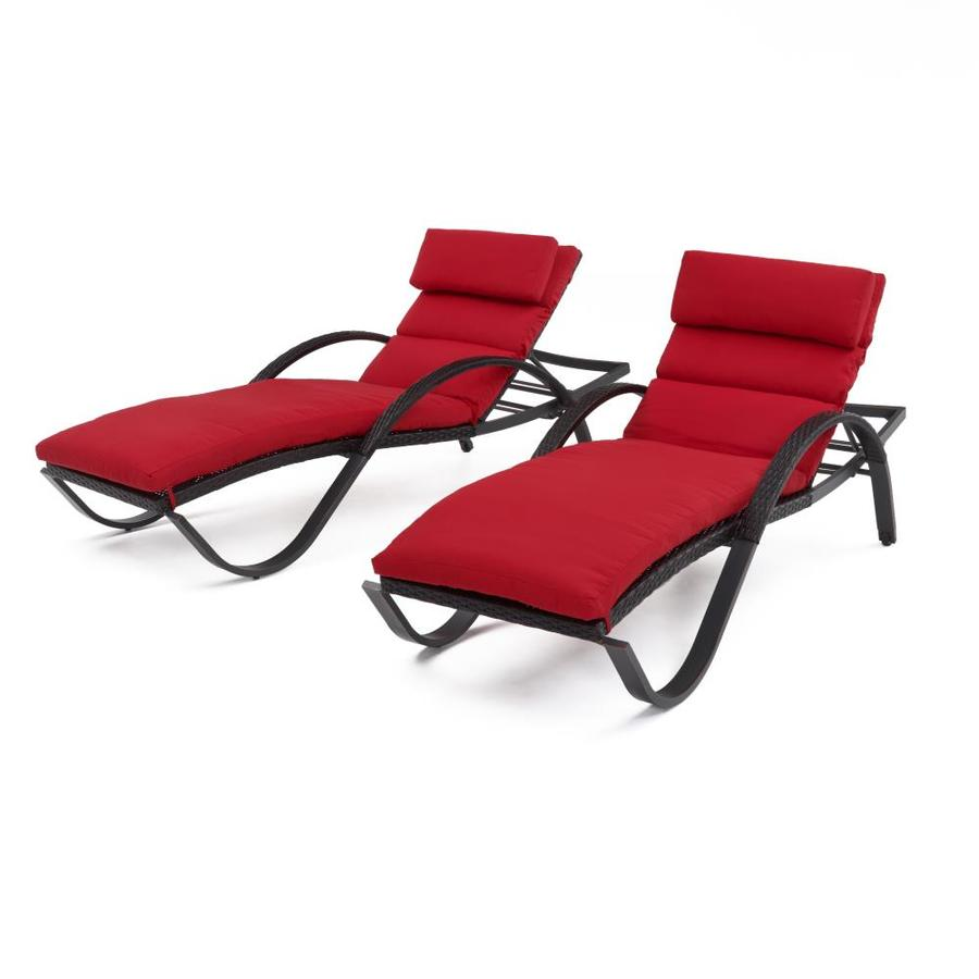 Rst Brands Dece Sunset Red Set Of 2 Wicker Stackable