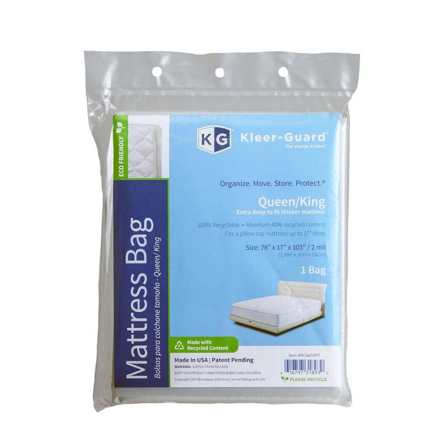 Kleer Guard Plastic Queen King Mattress Cover At Lowes Com
