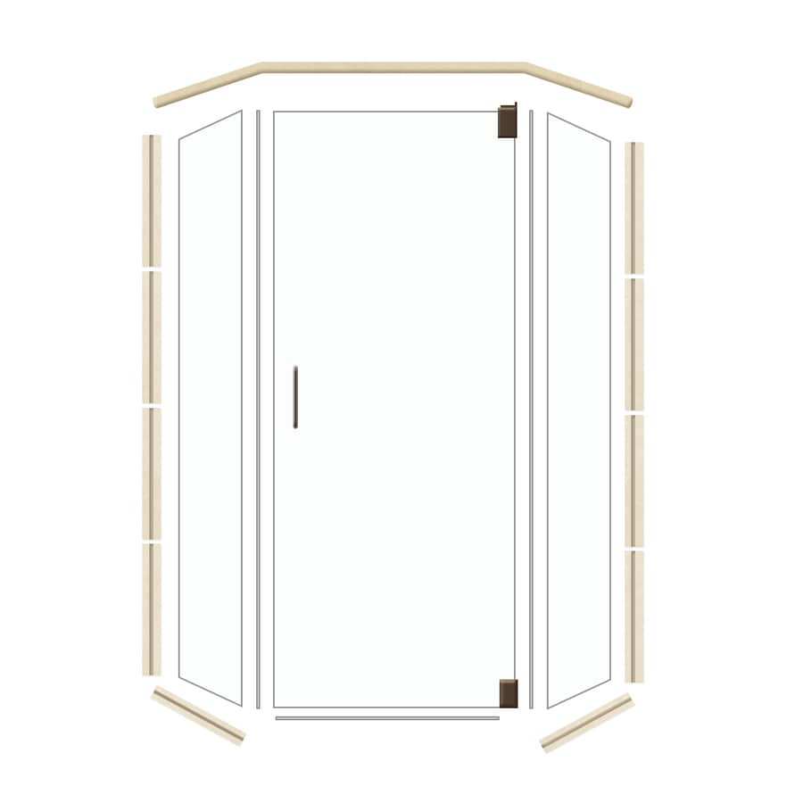 American Bath Factory 42-in W x 70-in H Frameless Neo-Angle Shower Door