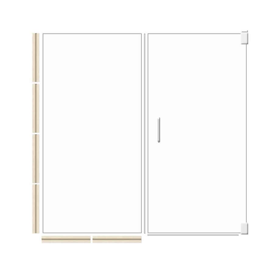 American Bath Factory 70-in H x 59.5-in W Mesa Shower Glass Panel