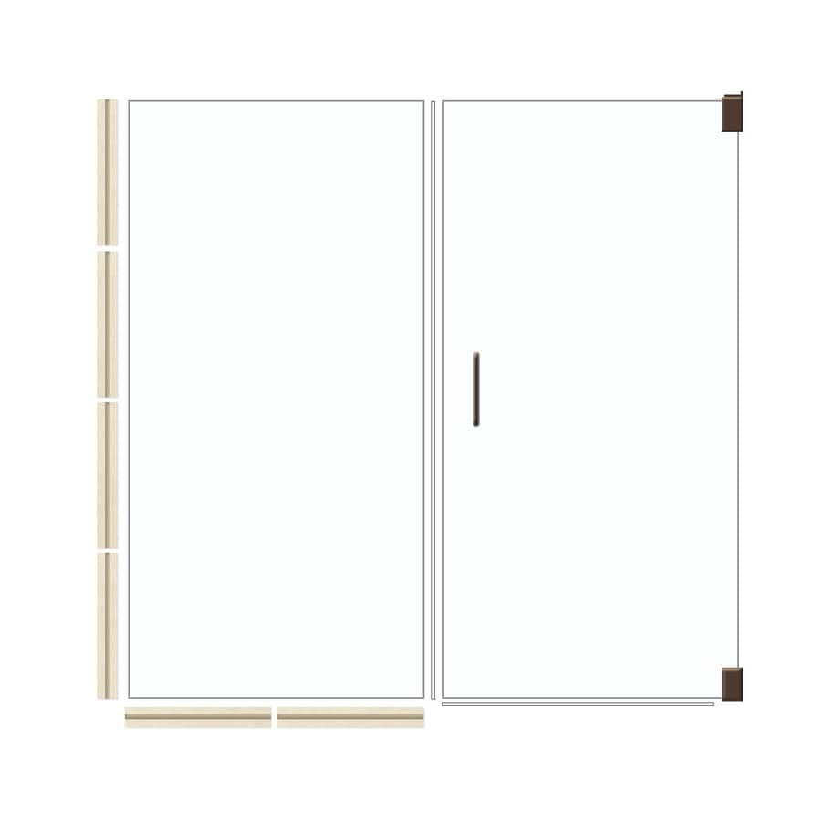 American Bath Factory 70-in H x 53.5-in W Mesa Shower Glass Panel