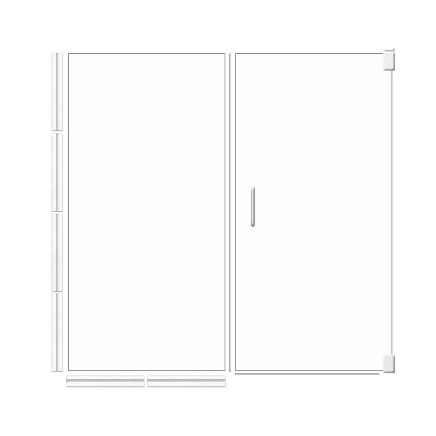 American Bath Factory 70-in H x 47.5-in W Laguna Shower Glass Panel