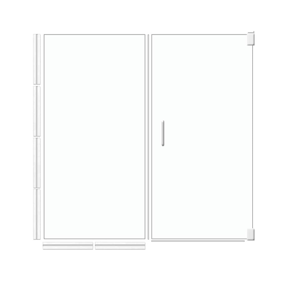 Shop American Bath Factory 70 In H X 53 5 In W Laguna Shower Glass Panel At L