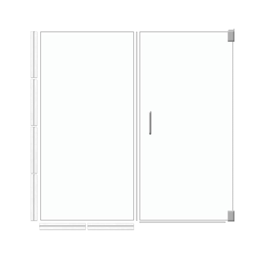 American Bath Factory 70-in H x 35.5-in W Laguna Shower Glass Panel