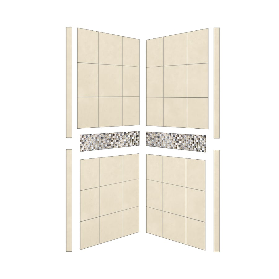 American Bath Factory Mesa Shower Wall Surround Side Panel (Common: 36-in; Actual: 80-in x 36-in)
