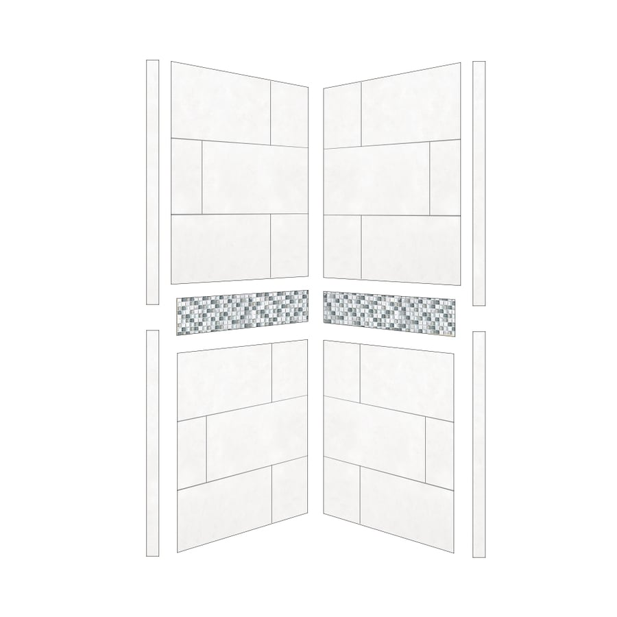 American Bath Factory Laguna Shower Wall Surround Side Panel (Common: 36-in x .1875-in; Actual: 80-in x 36-in x 0.25-in)