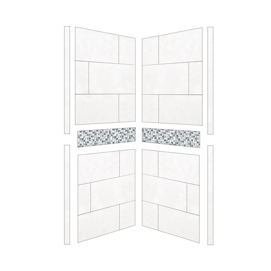 American Bath Factory Laguna Shower Wall Surround Side Panel (Common: 38-in; Actual: 80-in x 38-in)