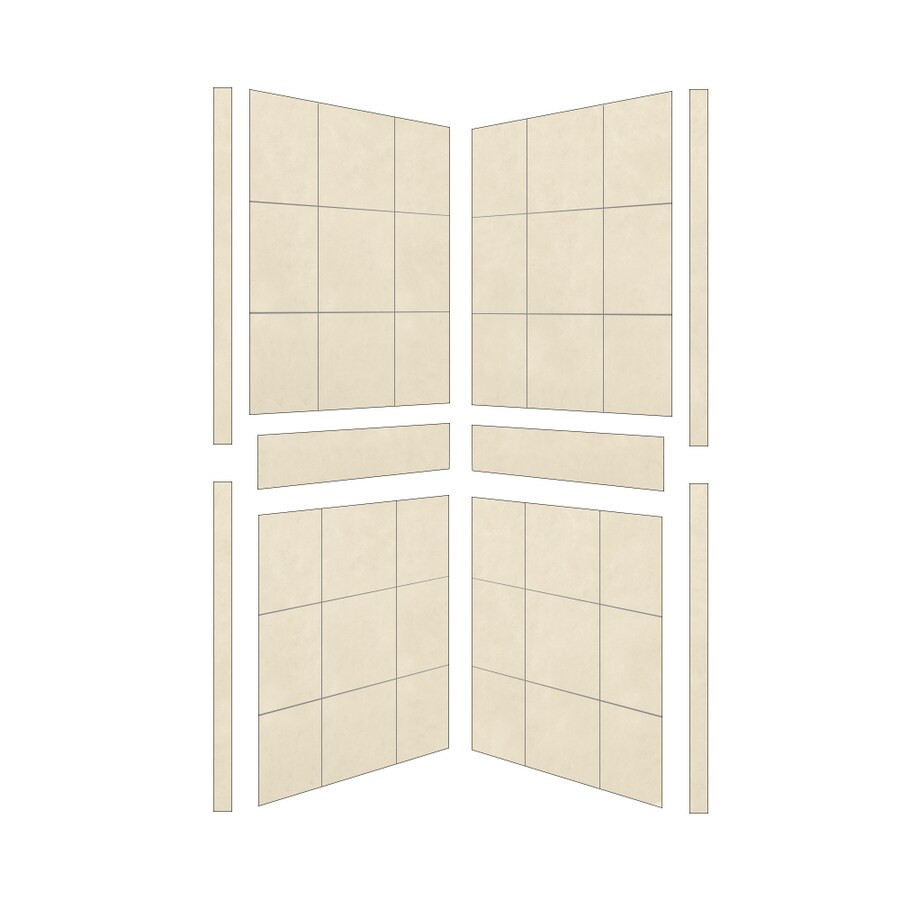 American Bath Factory Sonoma Medium Shower Wall Surround Side Panel (Common: 38-in; Actual: 80-in x 38-in)