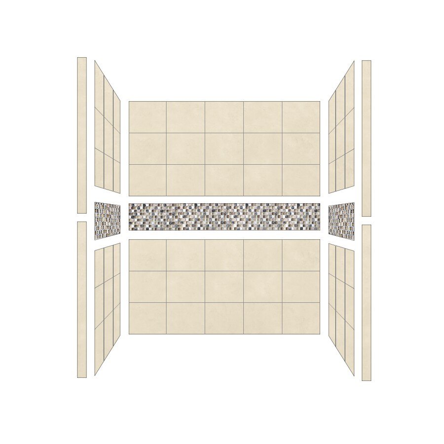 American Bath Factory Mesa Shower Wall Surround Side and Back Panels (Common: 36-in; Actual: 80-in x 36-in)