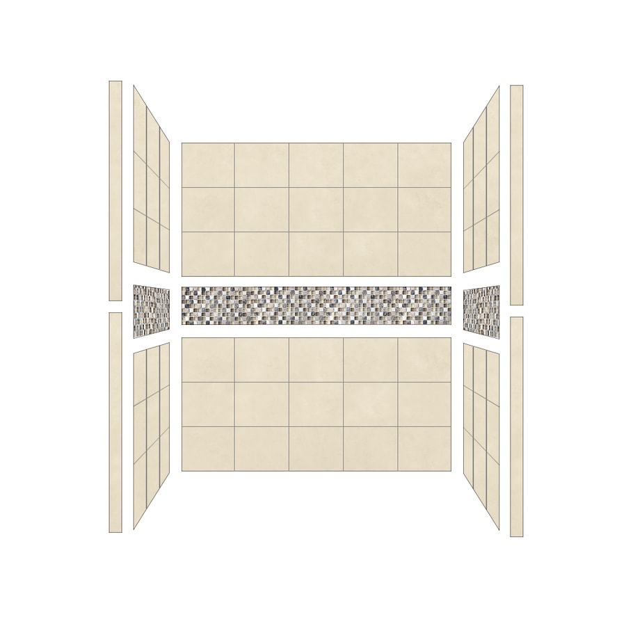 American Bath Factory Mesa Shower Wall Surround Side and Back Panels (Common: 34-in; Actual: 80-in x 34-in)
