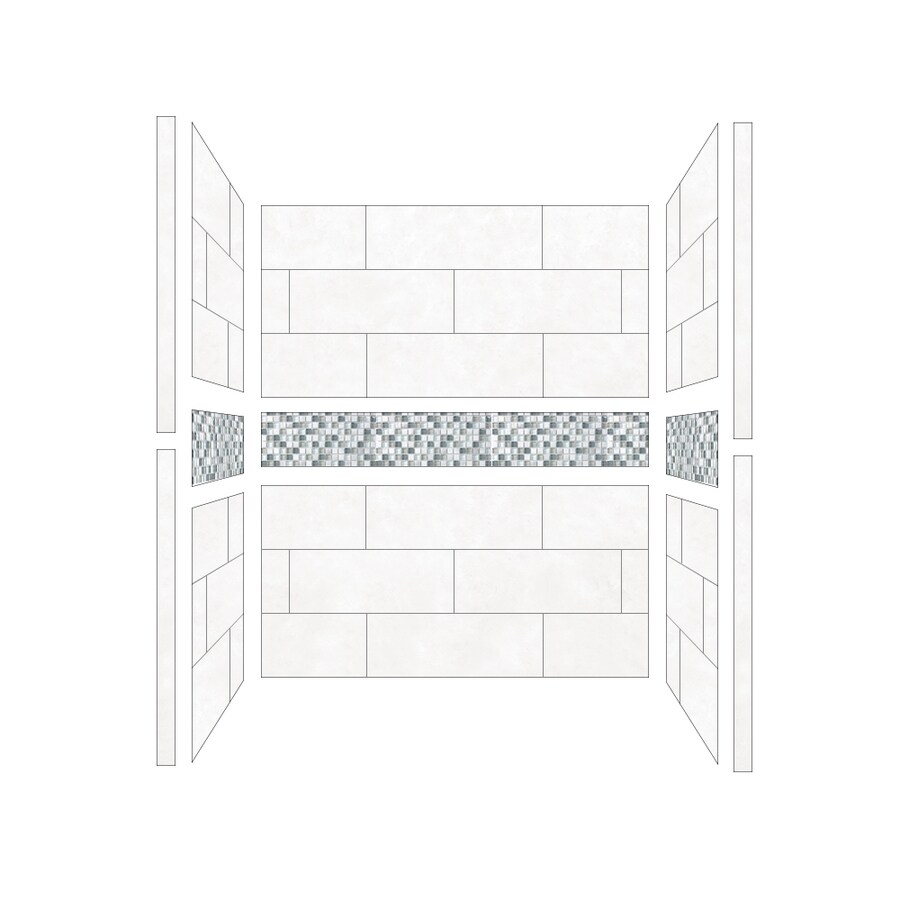 American Bath Factory Laguna Shower Wall Surround Side and Back Panels (Common: 36-in; Actual: 80-in x 36-in)