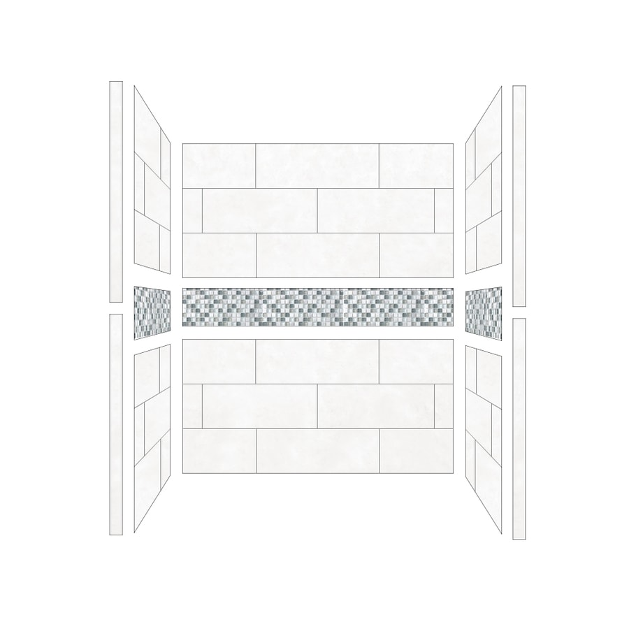 American Bath Factory Laguna Shower Wall Surround Side and Back Walls (Common: 32-in; Actual: 80-in x 32-in)