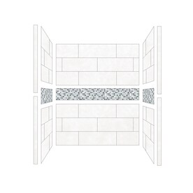 american bath factory shower wall surround side and back panels common 32in