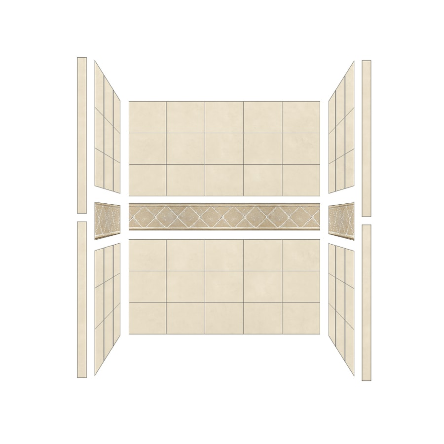 American Bath Factory Flagstaff Shower Wall Surround Side and Back Panels (Common: 34-in; Actual: 80-in x 34-in)