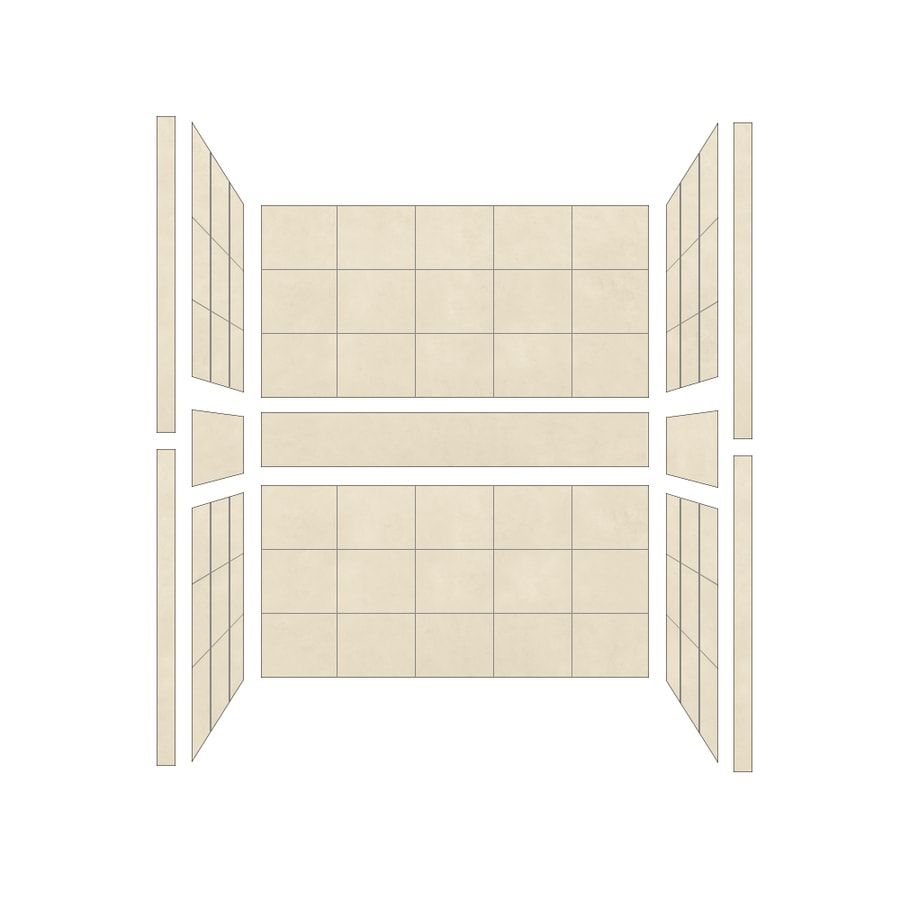 American Bath Factory Sonoma Medium Shower Wall Surround Side and Back Panels (Common: 36-in; Actual: 80-in x 36-in)