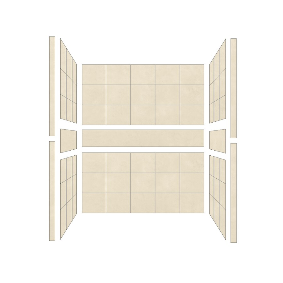 American Bath Factory Sonoma Medium Shower Wall Surround Side and Back Panels (Common: 34-in; Actual: 80-in x 34-in)