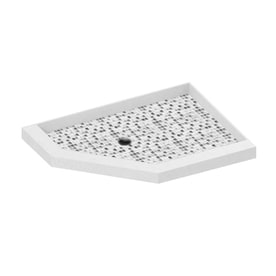 American Bath Factory 36 in L x 32 in W Molded Stone Neo Shop Corner Shower Bases at Lowes com. 32 Inch Corner Shower. Home Design Ideas