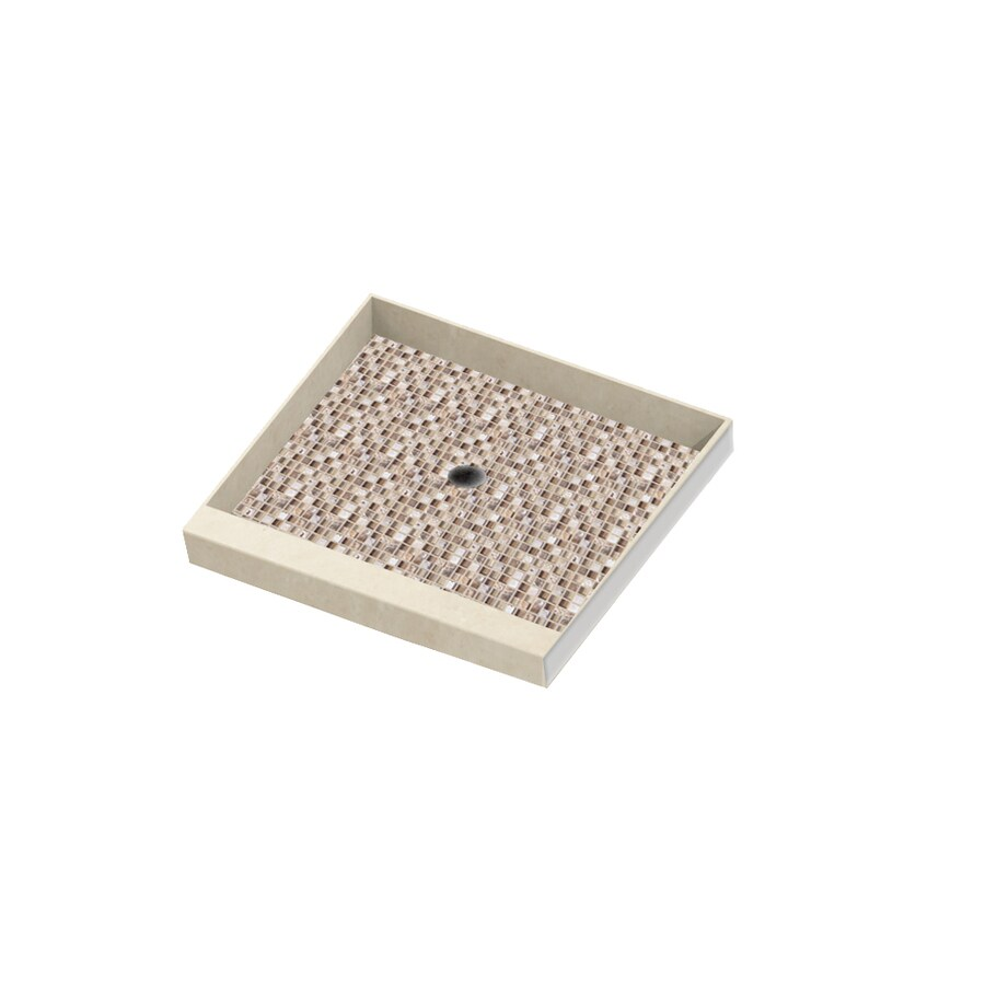 American Bath Factory Mesa Molded Stone Shower Base (Common: 36-in W x 36-in L; Actual: 36-in W x 36-in L)