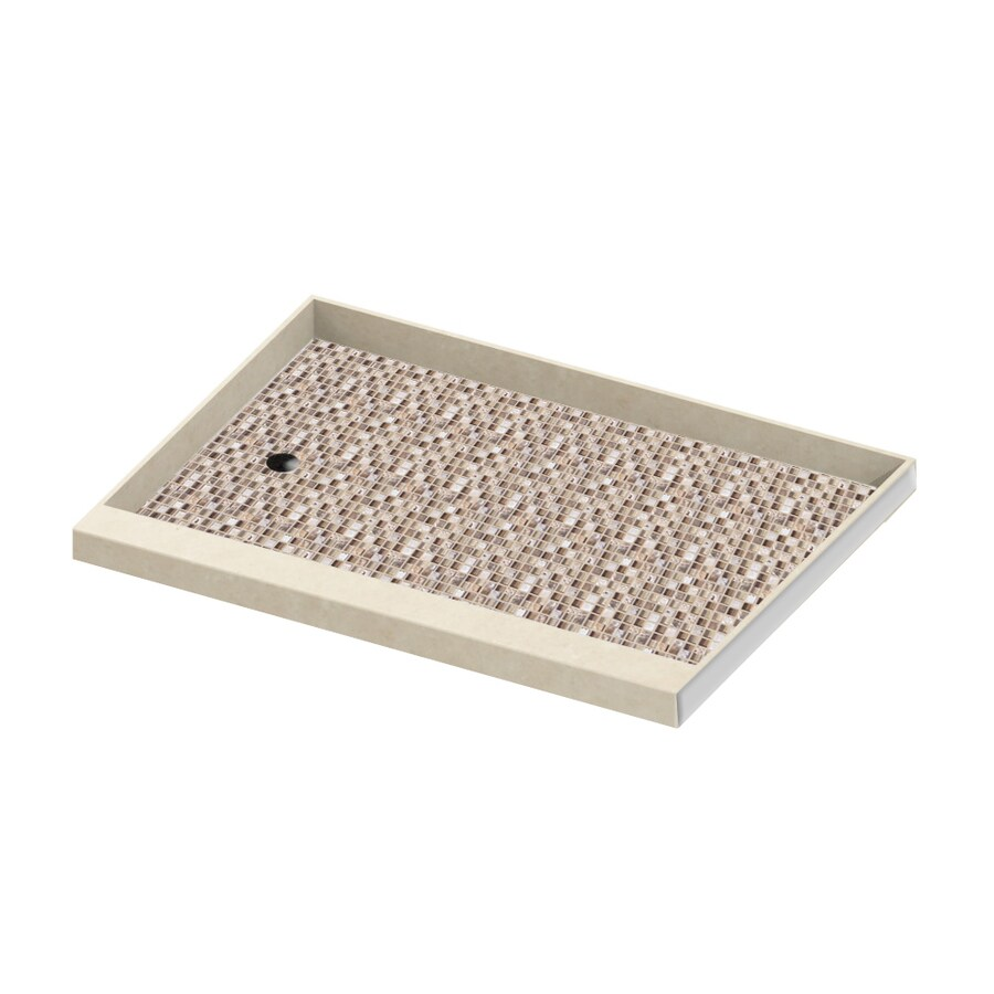 American Bath Factory Mesa Molded Stone Shower Base (Common: 30-in W x 60-in L; Actual: 30-in W x 60-in L)