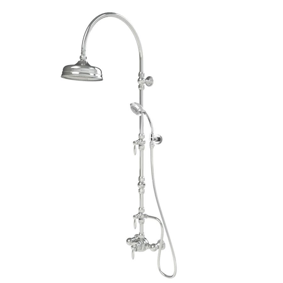 American Bath Factory F600 thermostatic Chrome 3-handle Commercial Shower Faucet with Valve