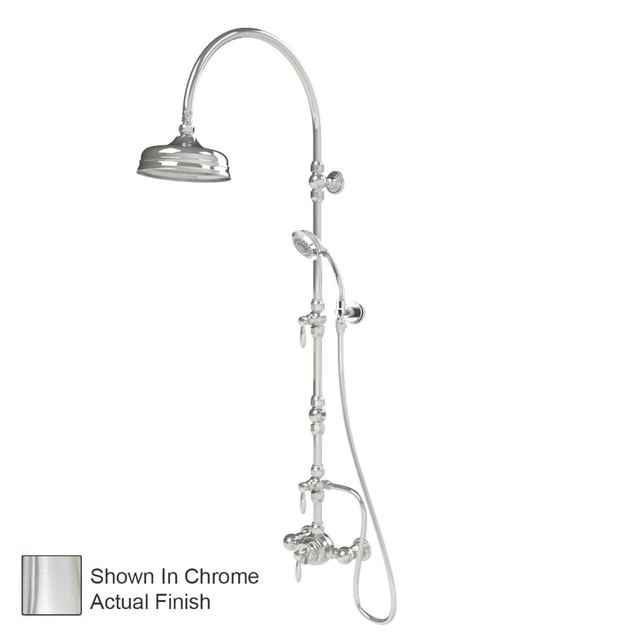 American Bath Factory Satin Nickel 3-Handle Shower Faucet with Single Function Showerhead