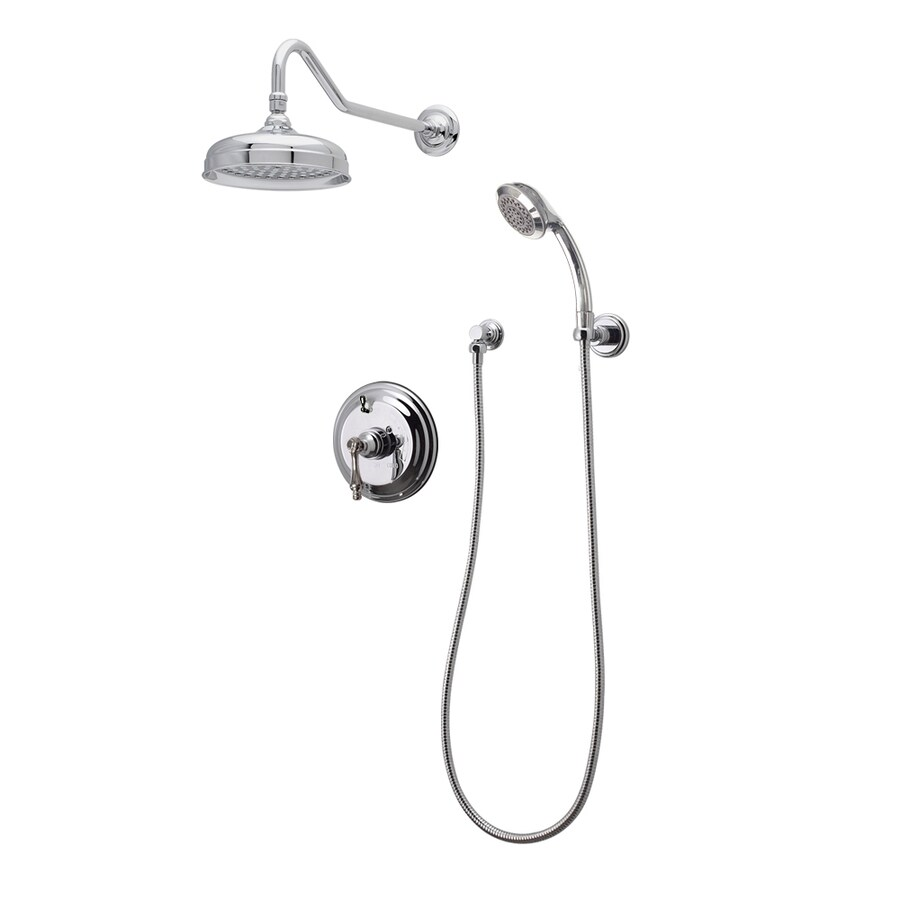 American Bath Factory Chrome 3-Handle Shower Faucet with Single Function Showerhead