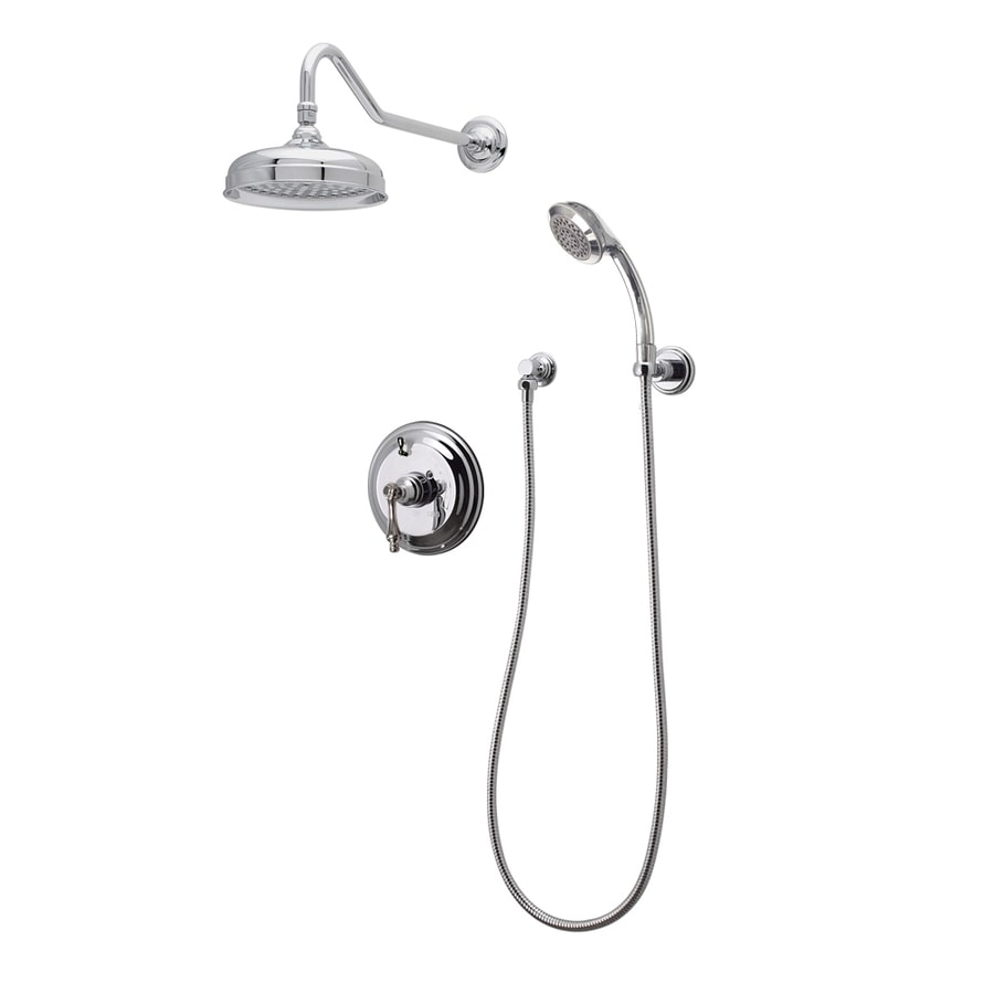 American Bath Factory F91S Chrome 1-Handle Shower Faucet with Valve