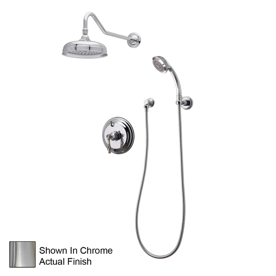 Shop American Bath Factory F91s Satin Nickel 1 Handle Shower Faucet With Valve At Lowes Com