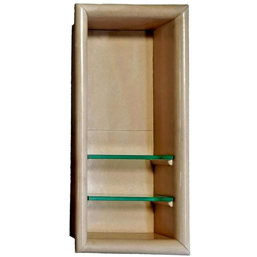 Shop American Bath Factory Medium Sistine Stone Shower Wall Shelf At - Lowes bathroom wall shelves