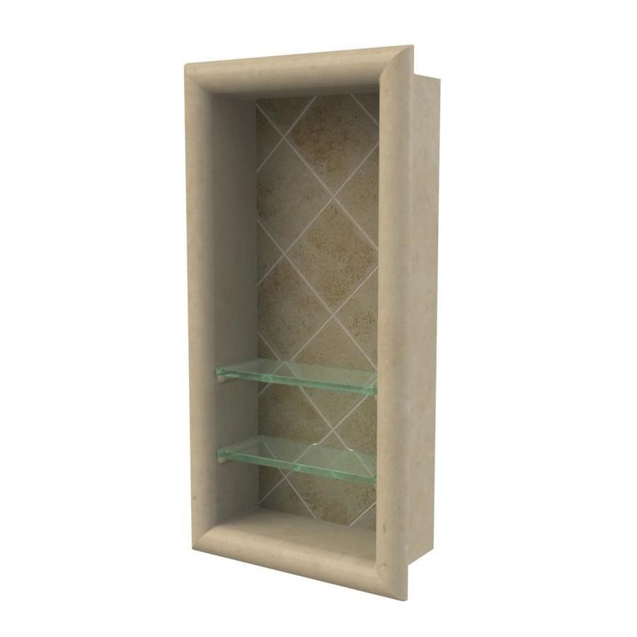 American Bath Factory Medium Sistine Stone with Dark Sistine Stone Accents Shower Wall Shelf