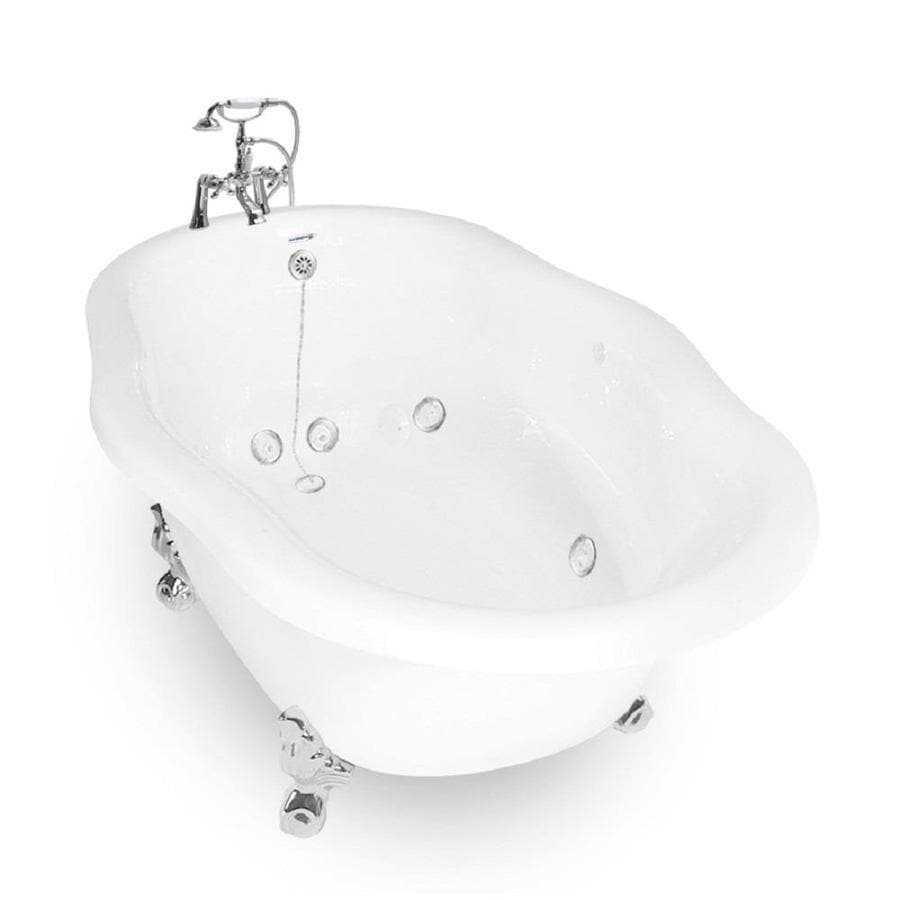 American Bath Factory White Acrylic Round Whirlpool Tub (Common: 60-in x 32-in; Actual: 26.5-in x 42-in x 72-in)