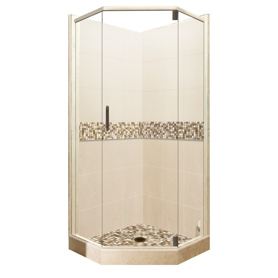 Shop American Bath Factory Mesa Medium With Mesa Mosaic Tiles Sistine Stone Wall Stone Composite
