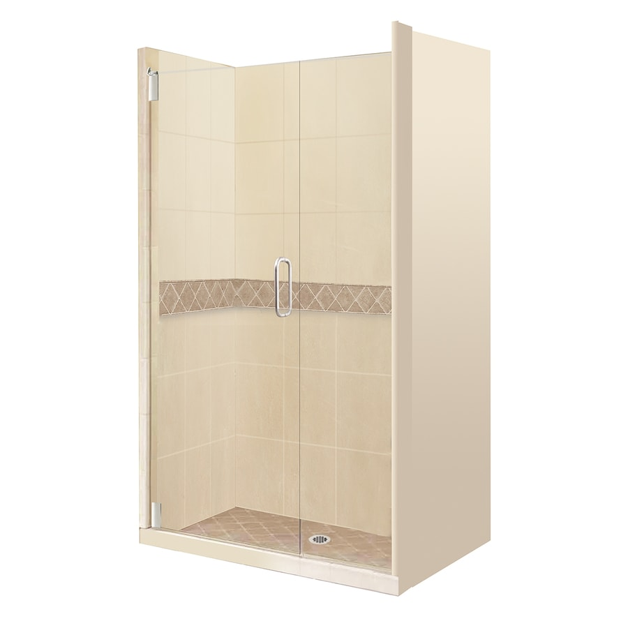 American Bath Factory Flagstaff Fiberglass/Plastic Composite Wall Fiberglass/Plastic Composite Floor 16-Piece Alcove Shower Kit (Common: 32-in x 60-in; Actual: 80-in x 32-in x 60-in)