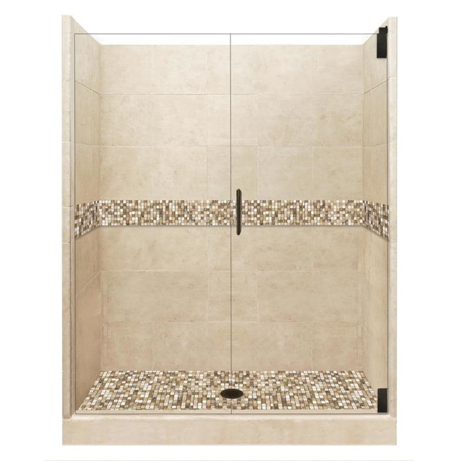 Shop American Bath Factory Mesa Medium With Mesa Mosaic Tiles 16 Piece Alcove Shower Kit Common