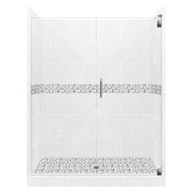 American Bath Factory Laguna Light With Mosaic Tiles 32 Piece Alcove Shower Kit