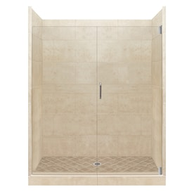 American Bath Factory Freedom Grand Desert Sand Tuscany Chrome 40 Piece 60 In X 34 In X 80 In Alcove Shower Kit In The Alcove Shower Kits Department At Lowes Com