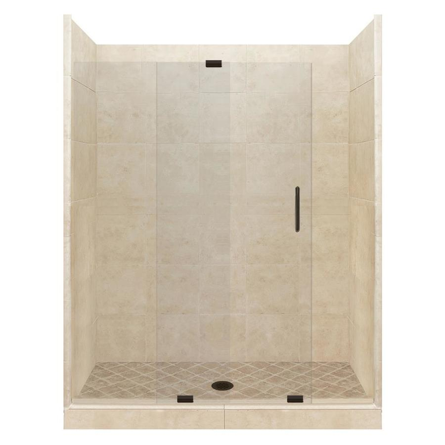 Shop American Bath Factory Sonoma Medium Solid Surface Wall Stone Composite Floor 12 Piece