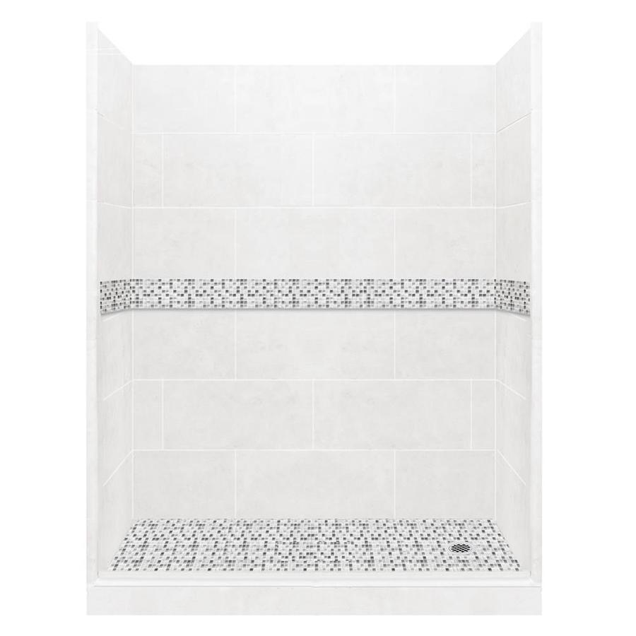 American Bath Factory Laguna Light With Laguna Mosaic Tiles 10-Piece Alcove Shower Kit (Common: 30-in x 60-in; Actual: 30-in x 60-in)